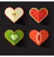fruit hearts on valentines day Eps10 vector image