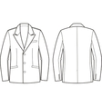 Men business jacket vector image vector image