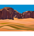 cartoon desert with the red rocks vector image