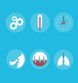 Medical Icons on the theme of respiration a vector image