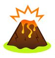 Explosing volcano vector image vector image