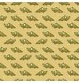 Vintage cartoon crocodiles pattern vector image