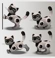 cat robot vector image