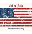 Flag USA 4th of July Independence Day vector image