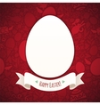 Red Happy Easter Poster With Egg vector image