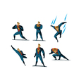set of Superhero actions different poses vector image