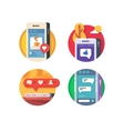 Like putting in social networks vector image