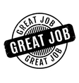 Great Job rubber stamp vector image