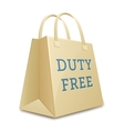 Duty free shopping bag vector image vector image