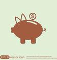 piggy bank symbol of money vector image
