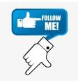 Follow me social trends vector image