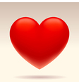 Three dimensional red heart vector image vector image