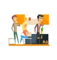 Office Team Relaxing vector image