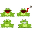 Funny frog cartoon vector image