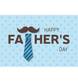Happy Fathers Day greeting card Happy Fathers Day vector image
