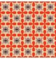 Flower orange seamless pattern vector image vector image