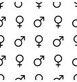 Seamless monochrome gender symbols pattern vector image vector image