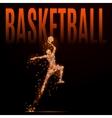 basketball man polygonal vector image