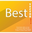 Best seller icon symbol Flat modern web design vector image