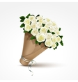 Bouquet of White Roses Isolated vector image