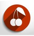cherry web icon vector image