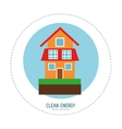 clean energy house green home vector image
