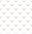 Deer antler pattern cartoon style vector image