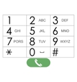 flat keypad for phone vector image