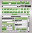 Green button for website and app vector image