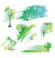 green design elements vector image