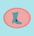 icon in flat design fashion footwear high-heeled vector image