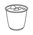 japanese soup ramen food menu restaurant outline vector image