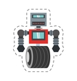 robot machinery automation electronic cutting line vector image