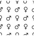 Seamless monochrome gender symbols pattern vector image
