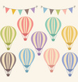 Vintage Hot Air Balloon vector image
