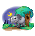 An elephant in the forest vector image