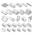 building construction materials for repair vector image