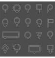 Flat Line Map Markers vector image vector image