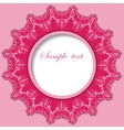 Paper round frame with lace pattern vector image