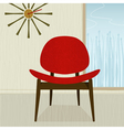 retro chair vector image vector image