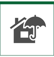 Property insurance icon vector image vector image