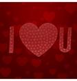 I love You Abbreviation Valentines Day Symbols vector image
