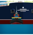 Tugboat Towing a Large Ship vector image