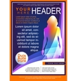 Bright Flyer Template vector image