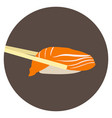 isolated shrimp vector image