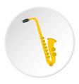 saxophone icon circle vector image