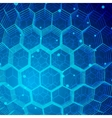 Tech Hexagon Background vector image