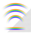 transparent rainbows collection vector image