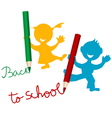 Back to school background with kids vector image vector image
