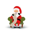 Christmas smiling Santa Claus character sitting on vector image